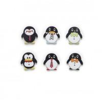 Деревянные пуговицы Пингвины ассорти, 10 штук