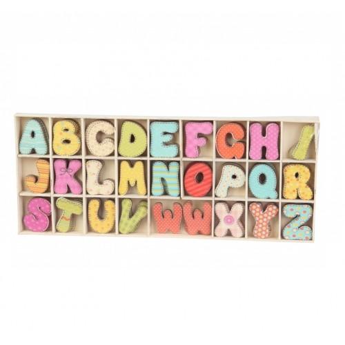 Набор деревянных букв (анг ) цветные