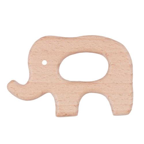 Деревянный грызунок слон №2