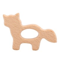 Деревянный грызунок кот