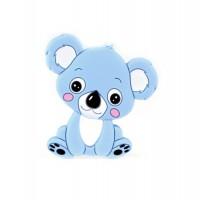 Силиконовый грызунок коала голубой