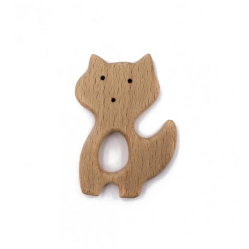 Деревянный грызунок кот №2