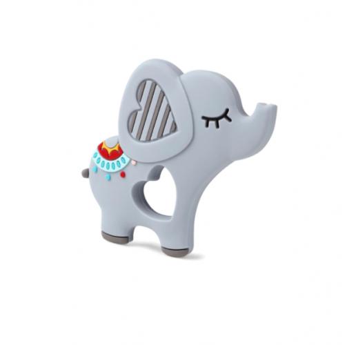 Силиконовый грызунок Слон серый