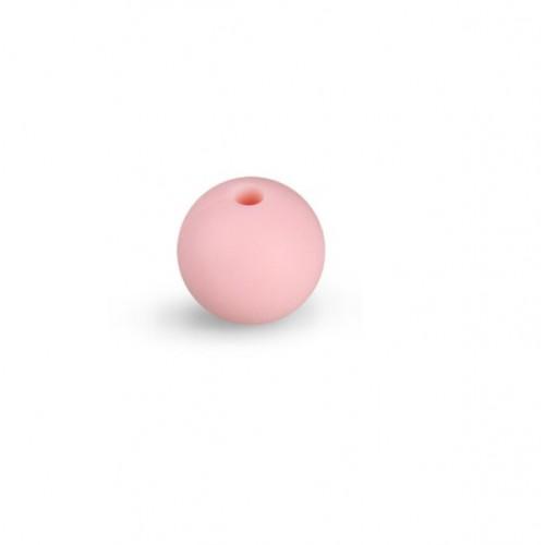 Силиконовая бусина для грызунков свело-розовая, 12 мм