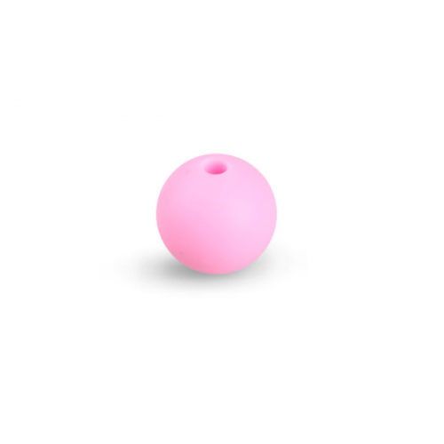 Силиконовая бусина для грызунков розовая, 12 мм