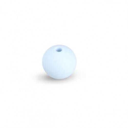 Силиконовая бусина для грызунков нежно-голубая, 12 мм