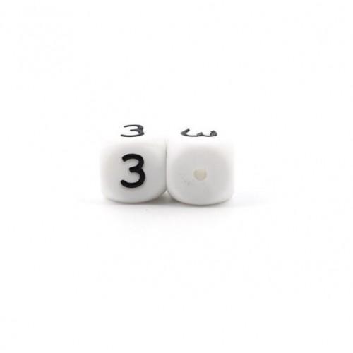Силиконовая бусина куб с буквой З