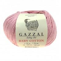 Нитки для вязания Gazzal Baby Cotton, Пудра №3444