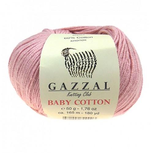 Нитки для вязания Gazzal Baby Cotton, Пудра №3444, фото