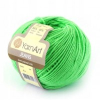 Нитки для вязания 60 - Jeans - ярко-салатовый - Yarn Art