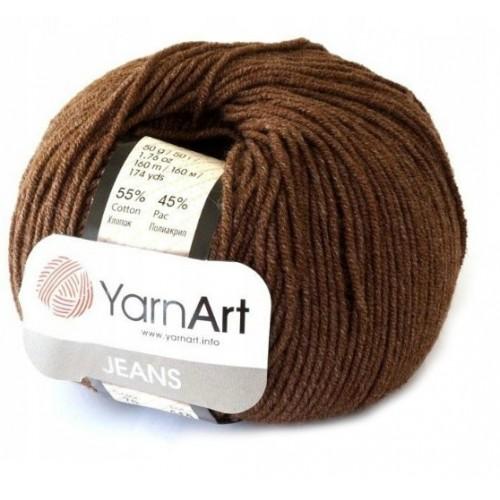 Нитки для вязания 70  Jeans - коричневый  Yarn Art, фото