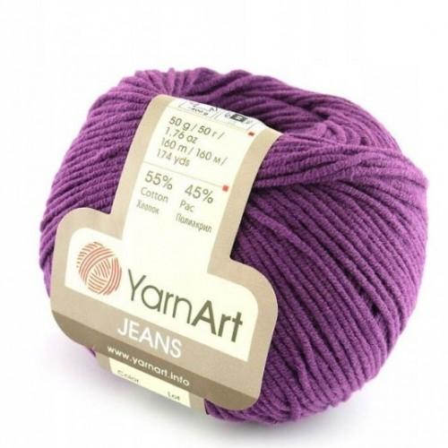 Нитки для вязания 50 Jeans фиолетовый Yarn Art, фото