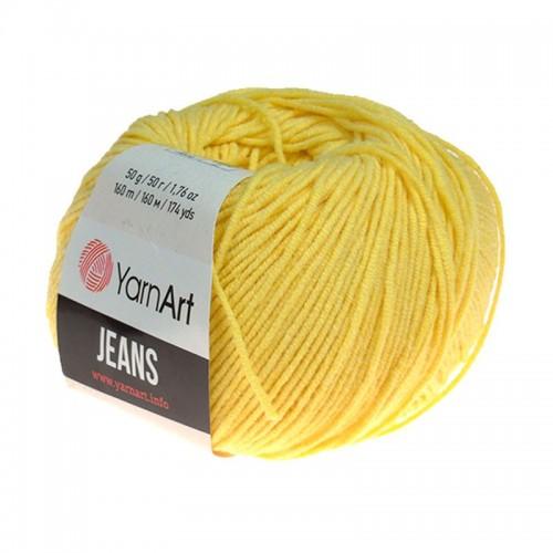 Нитки для вязания 88 - Jeans - желток - Yarn Art