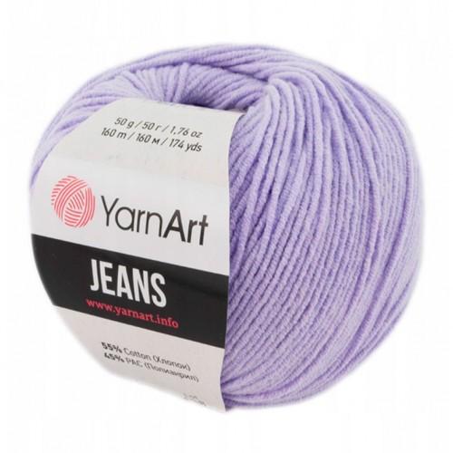 Нитки для вязания Yarnart jeans, сирень №89