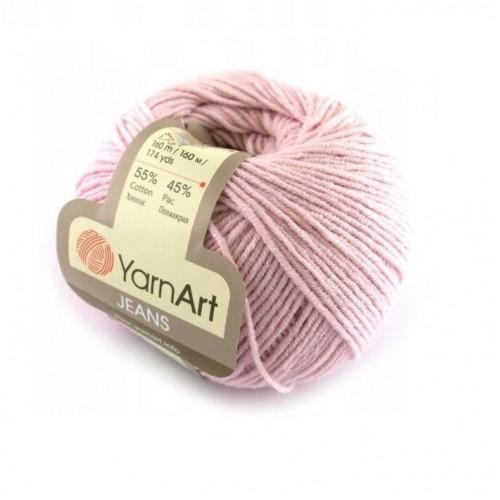 Нитки для вязания YarnArt Jeans, лиловый №18, фото