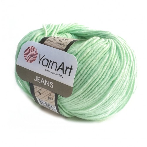 Нитки для вязания YarnArt Jeans, Мята №79