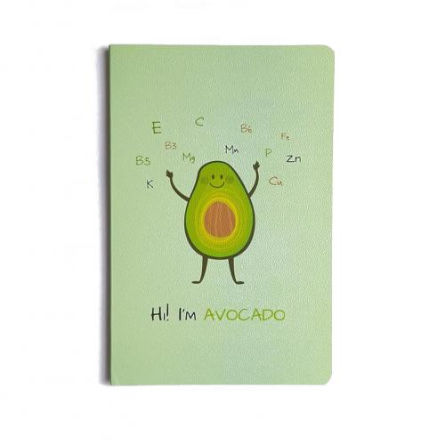 Блокнот Авокадо зеленый,  А5, 32 листа, линейка, фото
