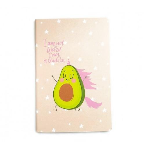 Блокнот Авокадо розовый,  А5, 32 листа, линейка, фото