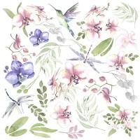 """Лист с картинками для вырезания """"Wild Orchid"""" Фабрика Декору"""