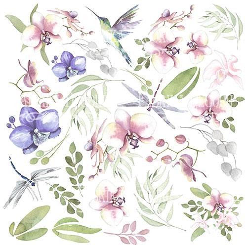 """Лист с картинками для вырезания """"Wild Orchid"""" Фабрика Декору фото"""
