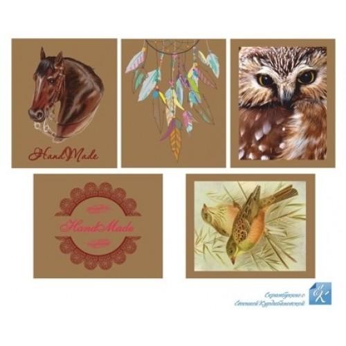 Картинки крафт 5,5х7 см Евгения Курдибановская фото