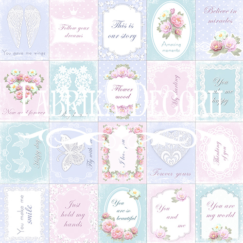Набор карточек для декорирования Shabby Dreams №1, Фабрика Декору