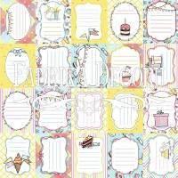 """Набор карточек для декорирования """"Bunny birthday party""""  №1 Фабрика Декору"""