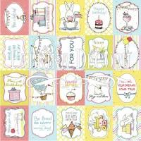 """Набор карточек для декорирования """"Bunny birthday party""""  №2 (eng) Фабрика Декору"""