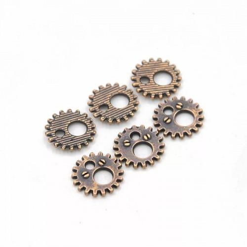 Металлический декор Шестеренка №6 Медь, 12 мм