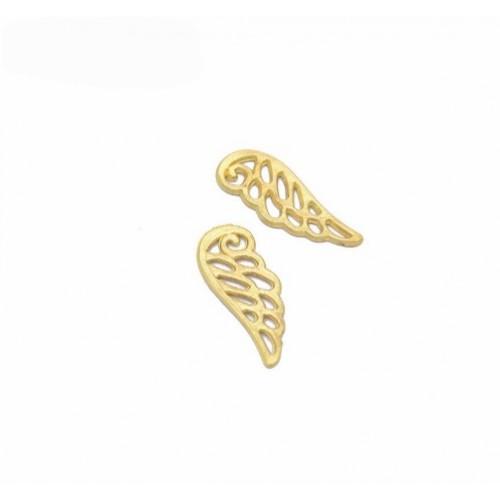 Металлический декор Крыло №4 Золото 2.3х0.8 см фото
