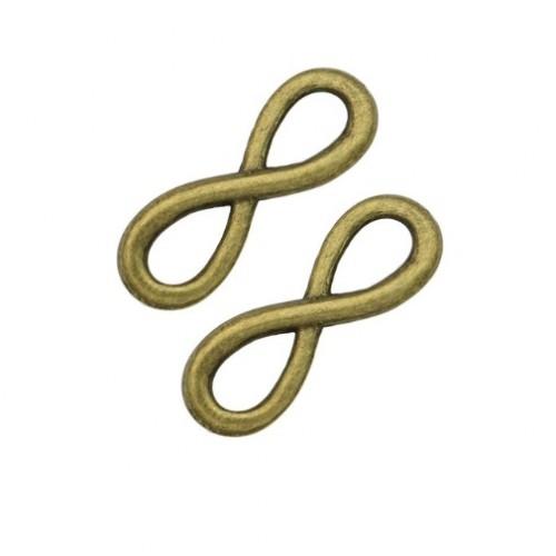 Металлический декор Знак бесконечности №1 Бронза 2.2х0.6 см фото