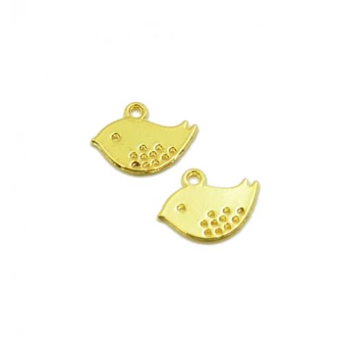Металлический декор Птенчик Золото 1.5х1 см фото