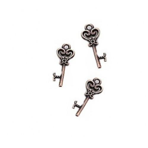 Металлический декор Ключ №10 Медь 2.1х0.8 см фото