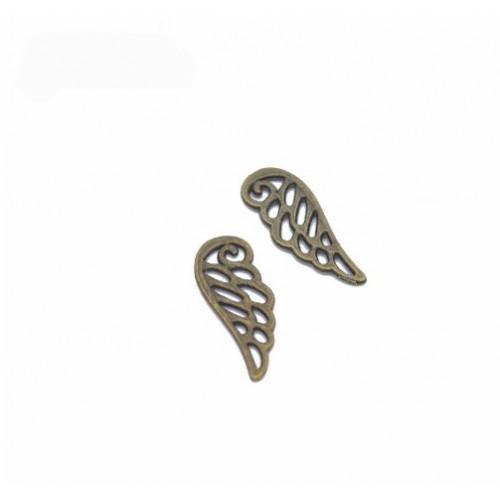 Металлический декор Крыло №4 Бронза, 2.3х0.8 см