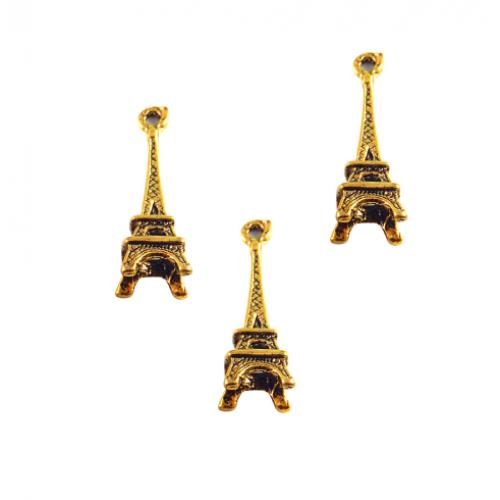 Металлический декор Эйфелева башня Золото 2.4х0.7 см фото