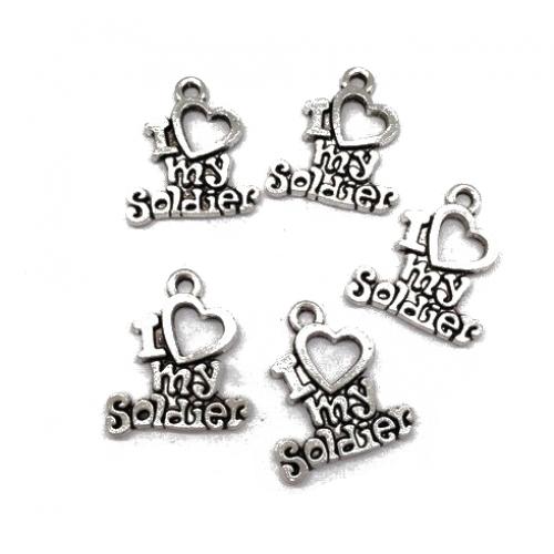 Металлический декор Сердце №31 Серебро 2х1.5 см фото
