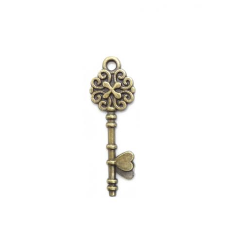 Металлический декор Ключ №11 Бронза 3х0.8 см фото