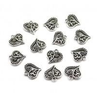 Металлический декор Сердце №5 Серебро, 1.5х1.3 см