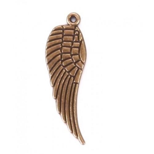 Металлический декор Крыло №2 Бронза 3x0.9 см фото