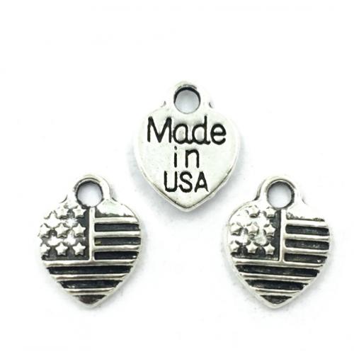 Металлический декор Сердце MADE IN USA  Серебро 1х1см фото