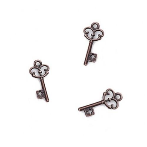 Металлический декор Ключ №15 Медь 2.2х1 см фото