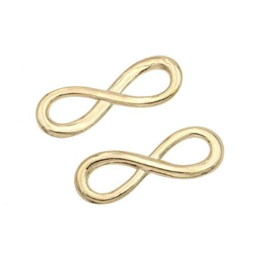 Металлический декор Знак бесконечности №1 Золото 2.2х0.6 см фото