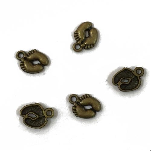 """Металлический декор """"Ножки"""" бронза 1х1.3 см фото"""