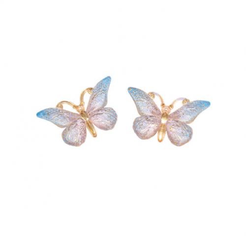 Кабошон Бабочка синяя, 25*38 мм