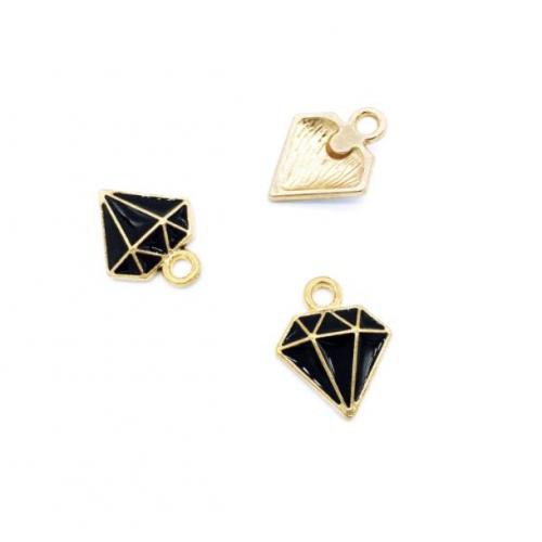 Металлический декор бриллиант черный, фото