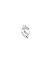 Металлический декор Сердце №9 Серебро, 1х1.7 см