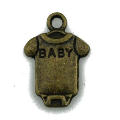 "Металлический декор Бодик ""Baby"" Бронза 1.7х1.3см фото"
