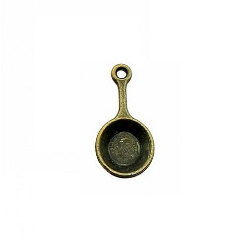 Металлический декор Сковородка 22х10 мм фото