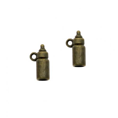 Металлический декор Бутылочка бронза, 1.5х0.5 см