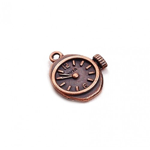 Металлический декор Часы Стимпанк Медь 2х1.5 см фото